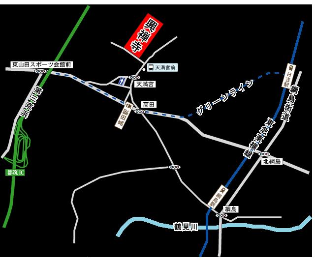 興禅寺会館アクセス地図